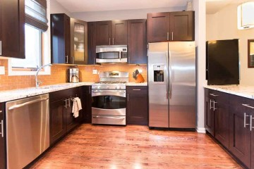 Photo of kitchen remodel in Ravenswood neighborhood of Chicago, Illinois